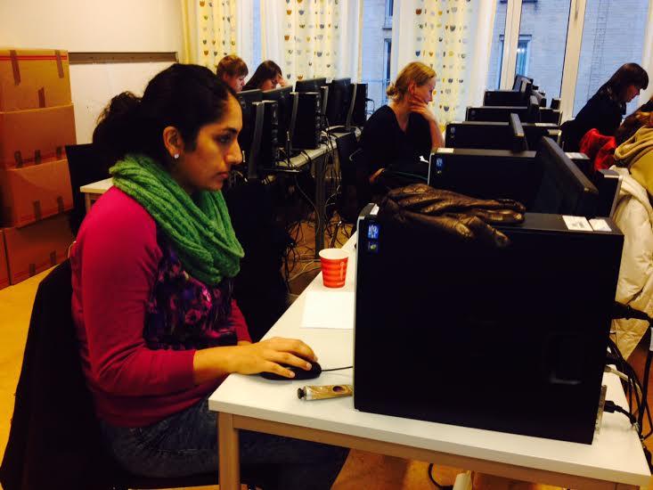Skrivekurs på Høgskolen i Oslo og Akershus. Foto Astrid Carlsen. CC-BY-SA-4.0