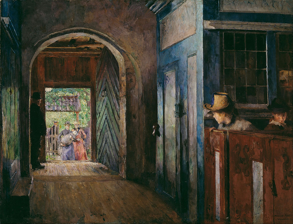 Harriet_Backer_-_Christening_in_Tanum_Church_-_Google_Art_Project Harriet Backer [Public domain], via Wikimedia Commons